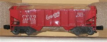 Weaver CB&Q (red) 2 bay hopper car, 3 rail or 2 rail