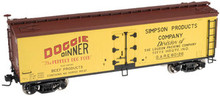 Atlas O Doggie Dinner 40' wood reefer, 3 rail or 2 rail  car