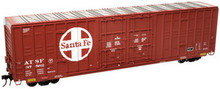 Atlas O santa fe (red) 60' Hy-cube  box car,  2 rail