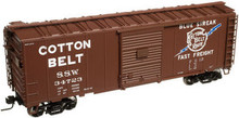 Atlas O special run Cotton Belt (SSW) 40' box car, 3 or 2 rail