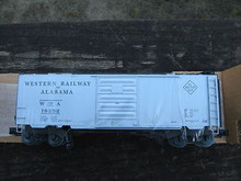 Weaver Western of Alabama 40' PS-1 box car, 3 rail or 2 rail