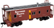 Atlas O SP (large letters)  Bay window caboose,  2 rail