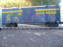 Weaver Alaska Railroad 40' PS-1 box car, 3 rail or 2 rail
