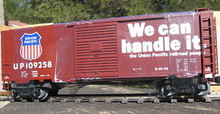 "Weaver Union Pacific ""We can handle it"" 40' PS-1 box car, 3 rail or 2 rail"