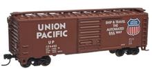 Atlas O (trainman) UP (1960 tuscan)) 40' Steel Box car, 3 rail or 2 rail