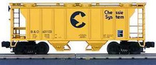 MTH Premier Chessie PS-2 Covered Hopper, 3 rail
