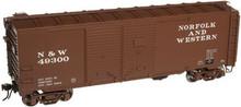 Atlas O N&W 1937 style 40' DD steel box car, 3 rail or 2 rail