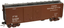 Atlas O Pere Marquette 1930's-1960's style 40' DD steel box car, 3 rail or 2 rail