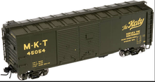 Atlas O MKT 1937 style 40' DD steel box car, 3 rail or 2 rail