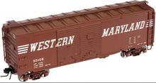 Atlas O WM 1930's-1960's style 40' DD steel box car, 3 rail or 2 rail