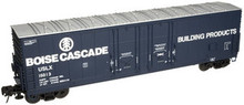 Atlas O Boise Cascade 53' Double plug door box car, 3 rail or 2 rail