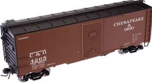 Atlas O C&O 1937 style 40' box car,, 3 rail or 2 rail
