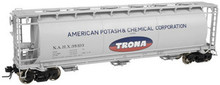 Atlas O Trona  Cylindrical Covered  Hopper, 3 rail or 2 rail