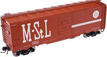 Atlas O M&StL 1937 style 40' box car,, 3 or 2 rail