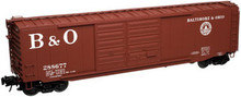 Atlas O B&O  50' double door box car, 3 rail or 2 rail