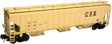 Atlas O CSX PS4750 3 bay covered hopper, 3 rail or 2 rail..