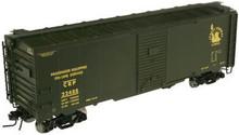 Atlas O custom CNJ (CRP) 40' steel express box car, 3 rail or 2 rail