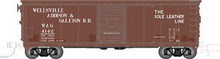Atlas O WAG 40' steel box car, 3 rail or 2 rail