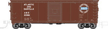 Atlas O Atlantic & Danville USRA 40' steel box car, 3 rail or 2 rail