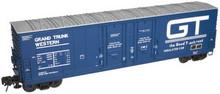 Atlas O GTW 53' double plug door box car, 3 rail or 2 rail