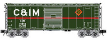 Atlas O C&IM 40' steel box car,  3 rail or 2 rail