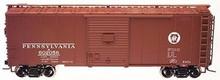 Atlas O PRR (circle keystone) 40' steel box car,  3 rail or 2 rail