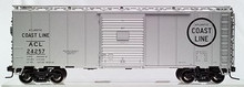 Atlas O ACL 40' steel box car (Silver),  3 rail or 2 rail