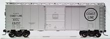 Atlas O ACL 40' steel box car (Silver),  3 rail or 2 rail