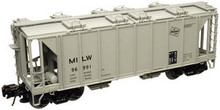 Atlas O MILW 34'  ACF Covered Hopper, 3 rail  or 2 rail