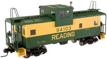 Atlas O Reading  Extended Vision caboose, 3 rail