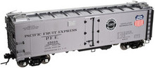 Atlas O PFE (silver)  40' steel reefer, 3 rail or 2 rail