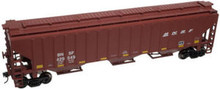 Atlas O BNSF  PS4750  3 bay covered hopper, 3 rail or 2 rail