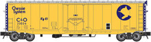 Atlas O Chessie System modernized 50' plug door box car