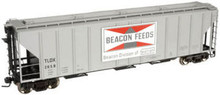 Atlas O Beacon Feeds  PS4427 50' Covered Hopper, 3 rail or 2 rail