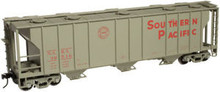 Atlas O SP  40'  3 bay covered hopper, 3 rail  or 2 rail