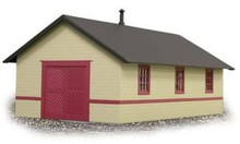 Weaver Brass railroad tool house, gray and red  colors