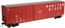 Atlas O Raritan River 50' box car, 3 rail or 2 rail