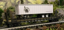 Weaver PDT Exclusive  CNJ trailer on piggyback flat car