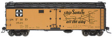 Atlas O Santa Fe (early)  40' steel reefer, 3 or 2 rail