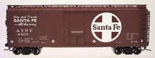 Atlas O Santa Fe 40' steel reefer, 3 rail or 2 rail