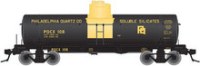 Atlas O Philadelphia Quartz 8000 gallon tank car, 3 rail or 2 rail