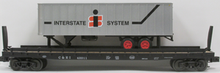 Weaver PDT exclusive Interstate trailer on C&EI flat car, 2 rail or 3 rail