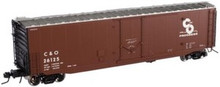 Atlas O C&O 50' plug box car, 3 rail