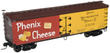 Atlas O Phenix cheese 40' wood reefer, 3 rail or 2 rail