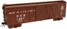 Atlas O D&H 40' single sheathed box car,3rail or 2 rail