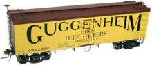 Atlas O Guggenheim  36' reefer,  3 rail