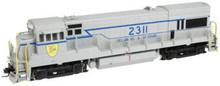 Atlas O D&H (gray)  U23b diesel, 3 rail, horn & bell