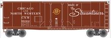 Atlas O 40' C&NW plug door (bunkerless) reefer, 3 rail or 2 rail  car