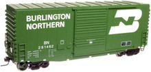 Atlas O BN  40' Hy-cube box car, 3 rail or 2 rail