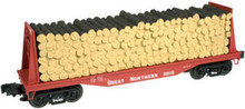 Atlas O Industrial Rail GN (red) Flat car, 3 rail, 027